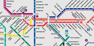 U Bahn Plan Sao Paulo Brasilien online