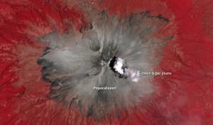 Popocatépetl: NASA Fotos, Infrarotbilder und Video aus dem feuerspeienden Krater