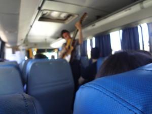 Busfahren mit Musik in Südamerika